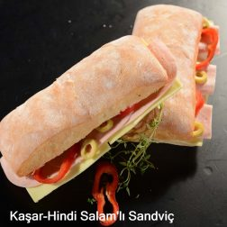 Kaşar-Hindi Salamlı Sandviç