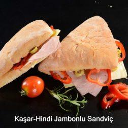 Kaşar-Hindi jambonlu sandviç