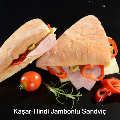 Kaşar-Hindi jambonlu sandviç